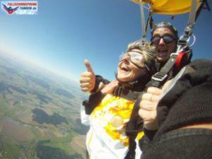 Fallschirmspringen im Tandemsprung