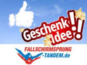 Fallschirmspringen Geschenk Tandemsprung
