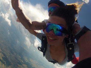Fallschirmspringen in Most im Grenzgebiet Sachsen als Tandemsprung