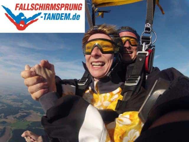 Fallschirm springen Geschenk